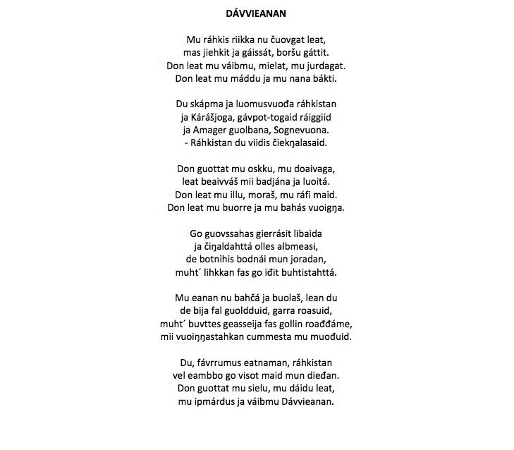 Nordsamisk oversættelse // oversat af Rawdna Carita Eira