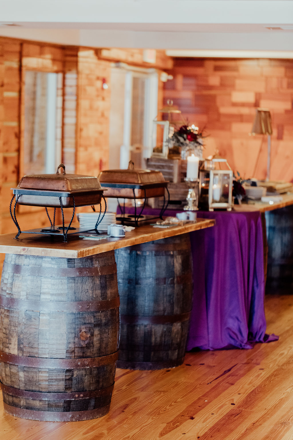 whiskey barrel buffet