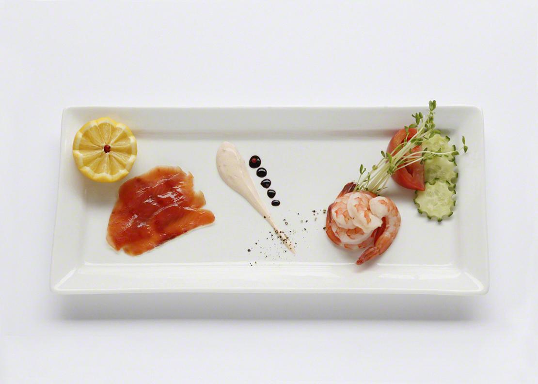 Duo de saumon fumé et crevettes
