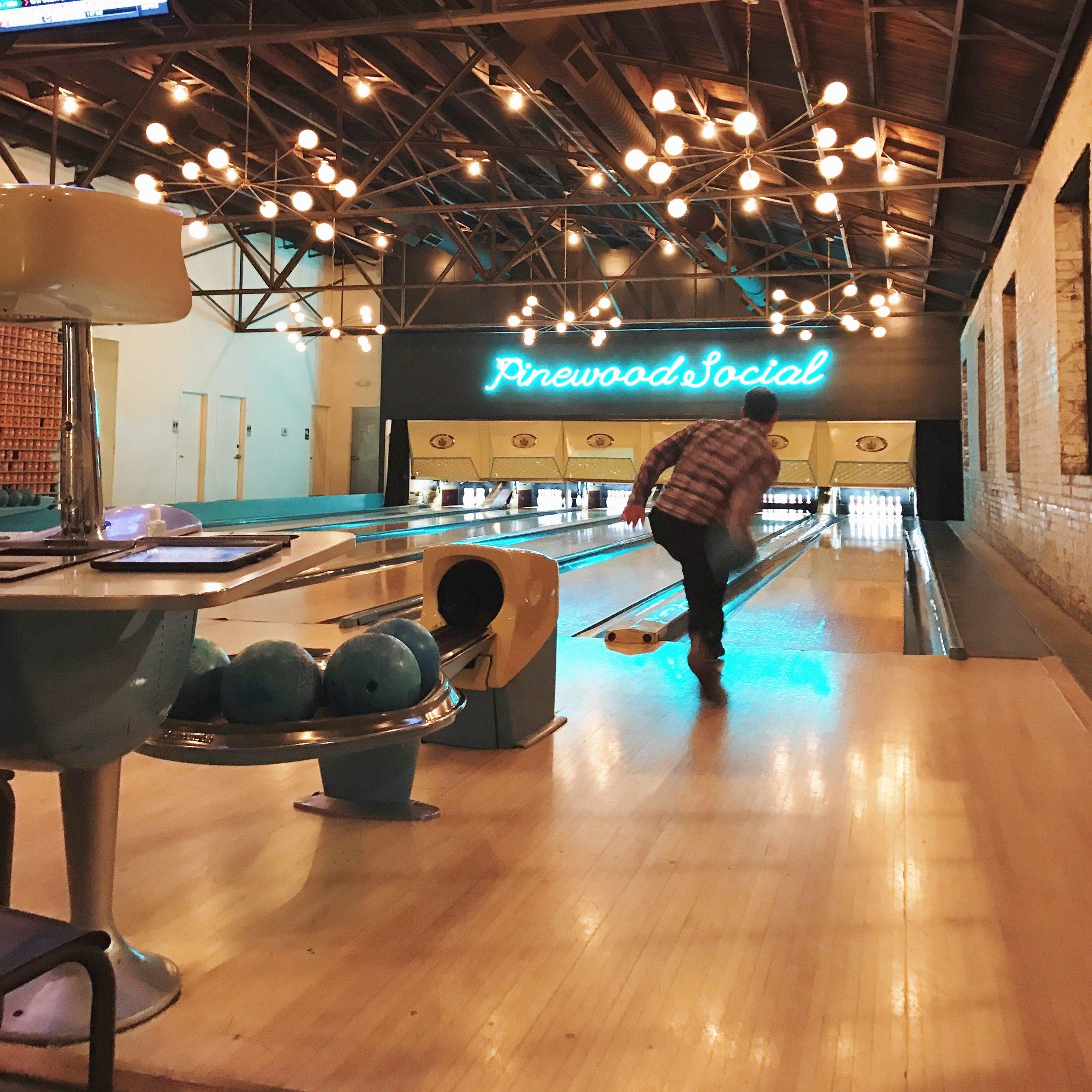 Bowling at Pinewood Social