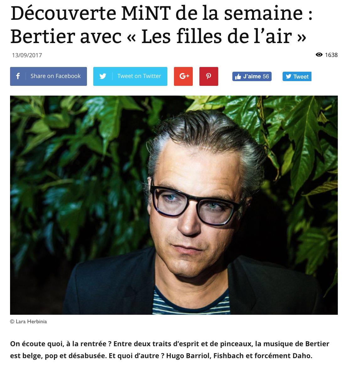 https://fr.metrotime.be/2017/09/13/culture/decouverte-mint-de-semaine-bertier-filles-de-lair/  (sortie papier 13/09/2017)