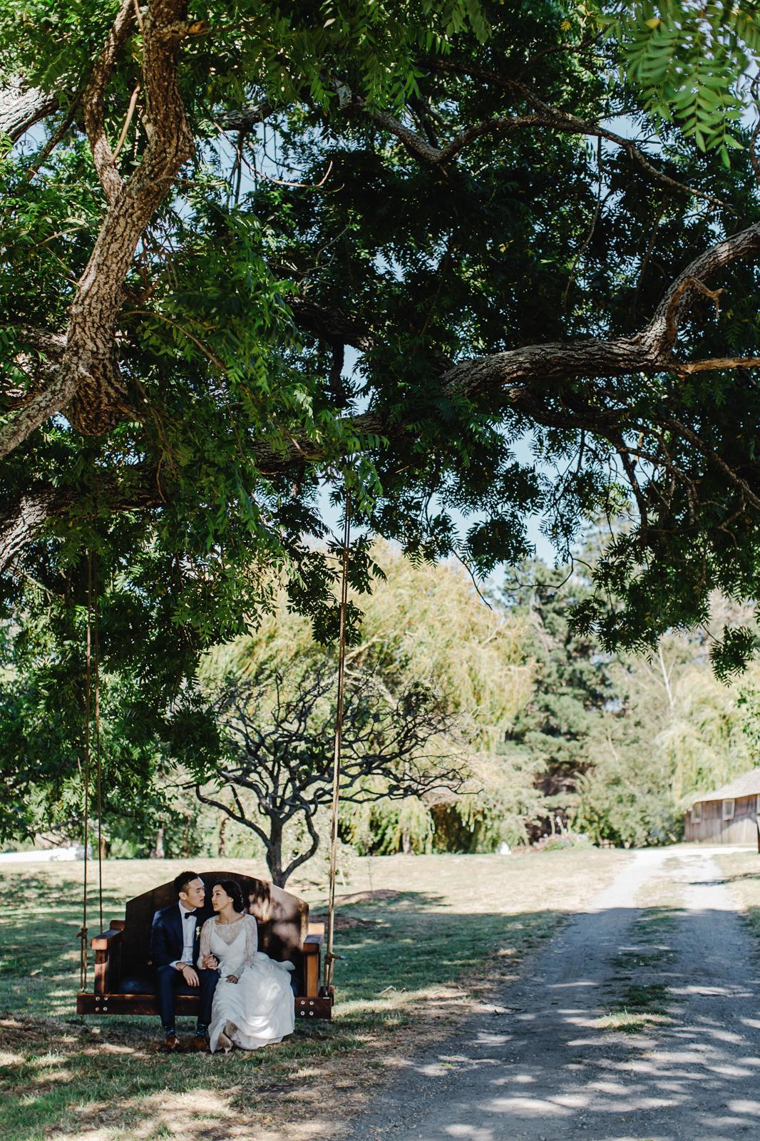 walnut tree swing photo by william kim photography