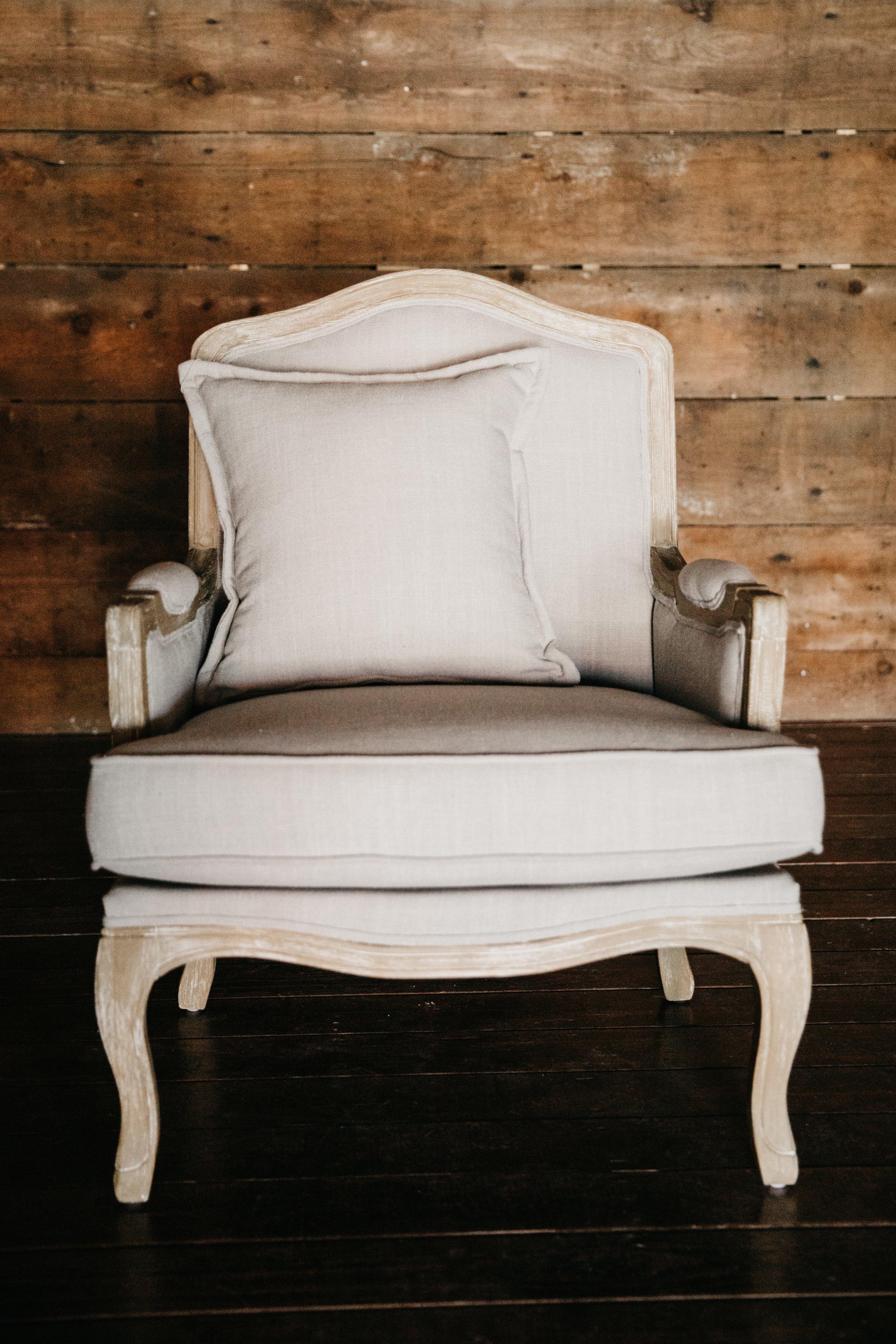 emanuelle arm chair $120ea {qty 2}