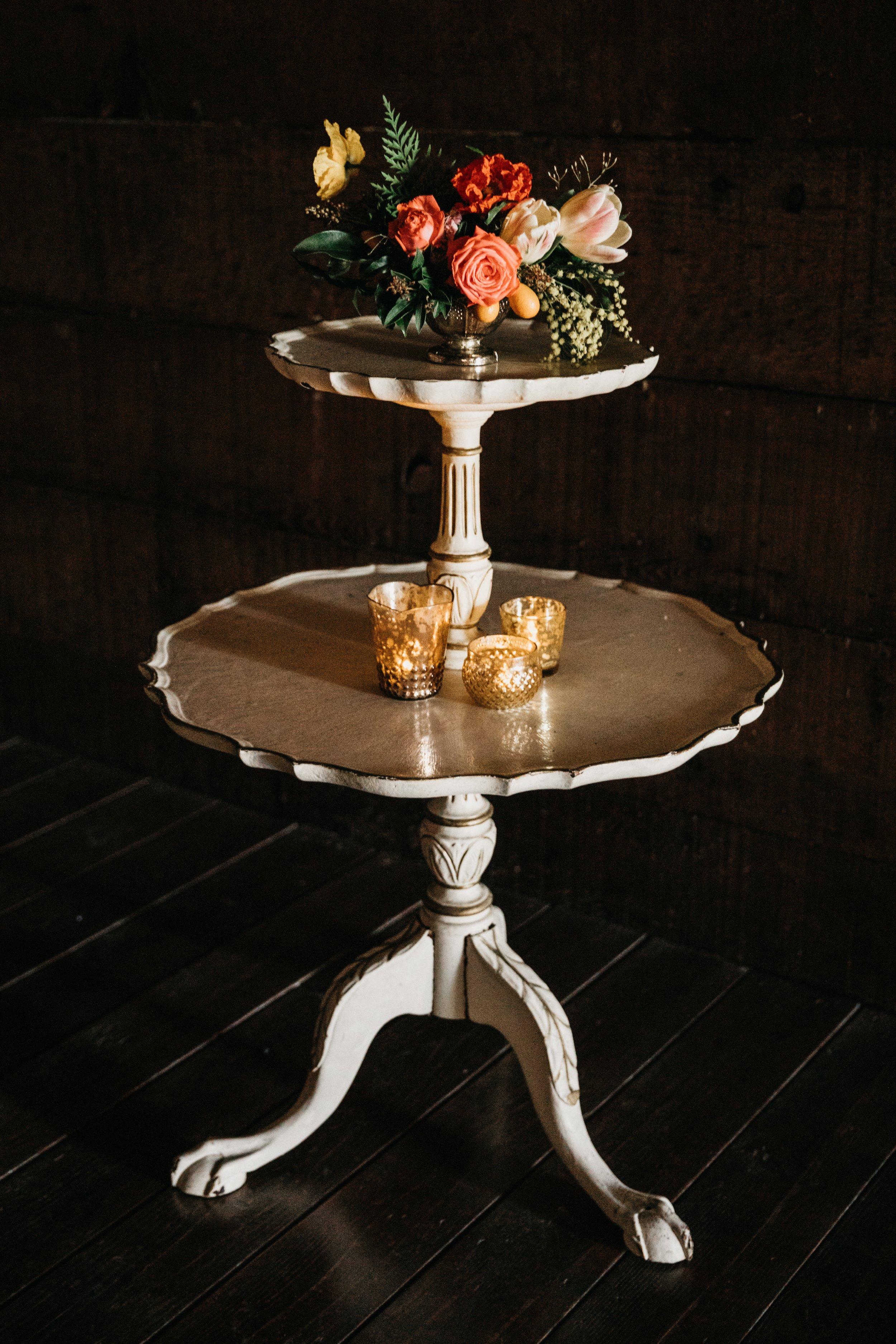 etta two-tier side table $55 (qty 1}
