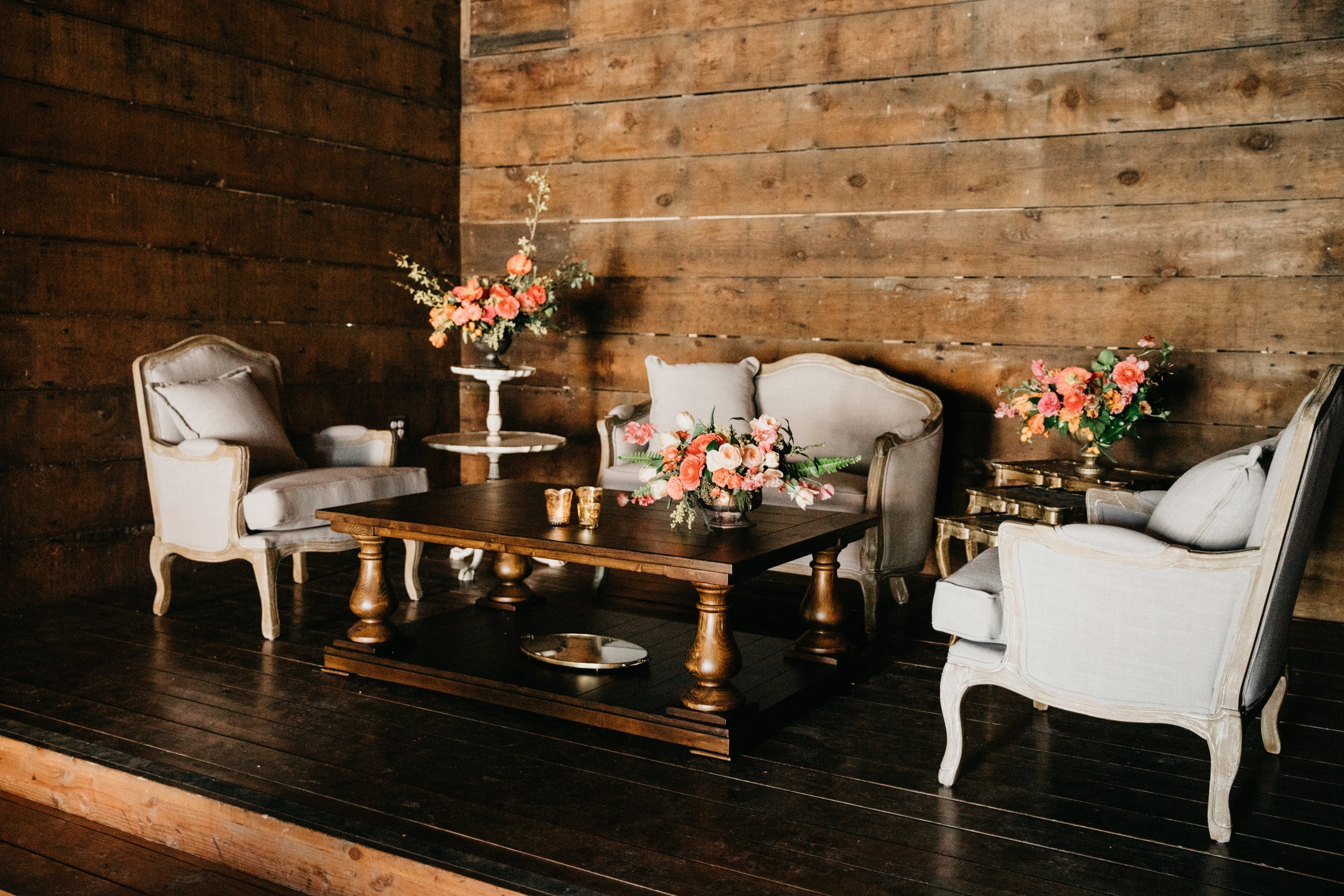 six piece lounge set two $650