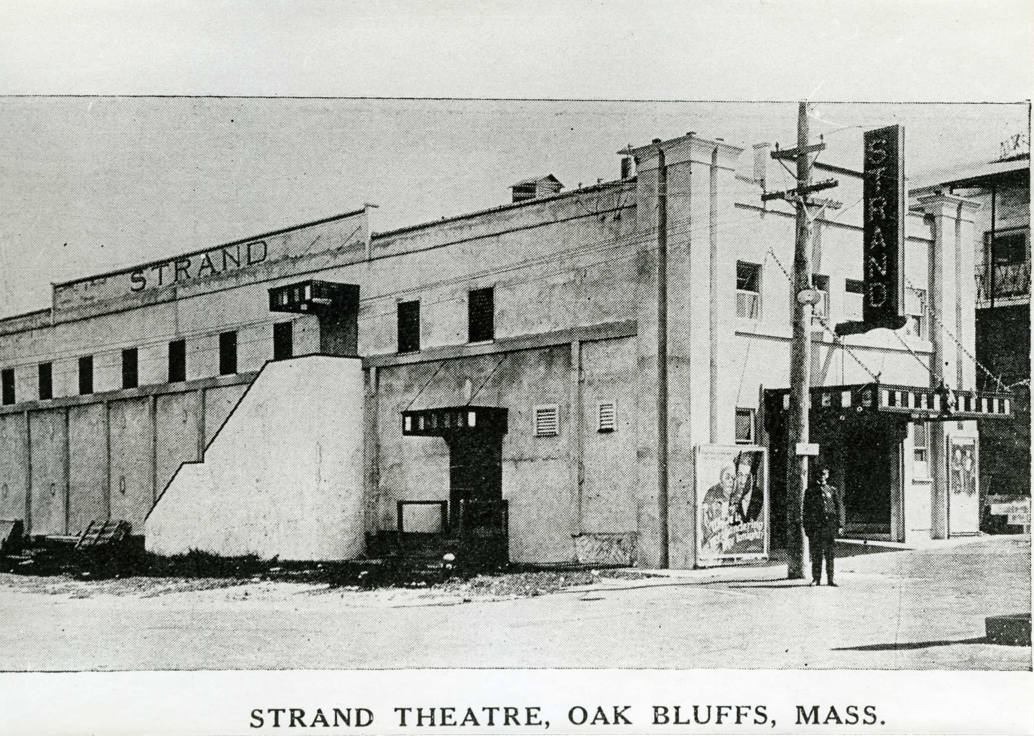 Historic Photo of the Strand Theatre from 1922 -Photo courtesy of Martha's Vineyard Museum
