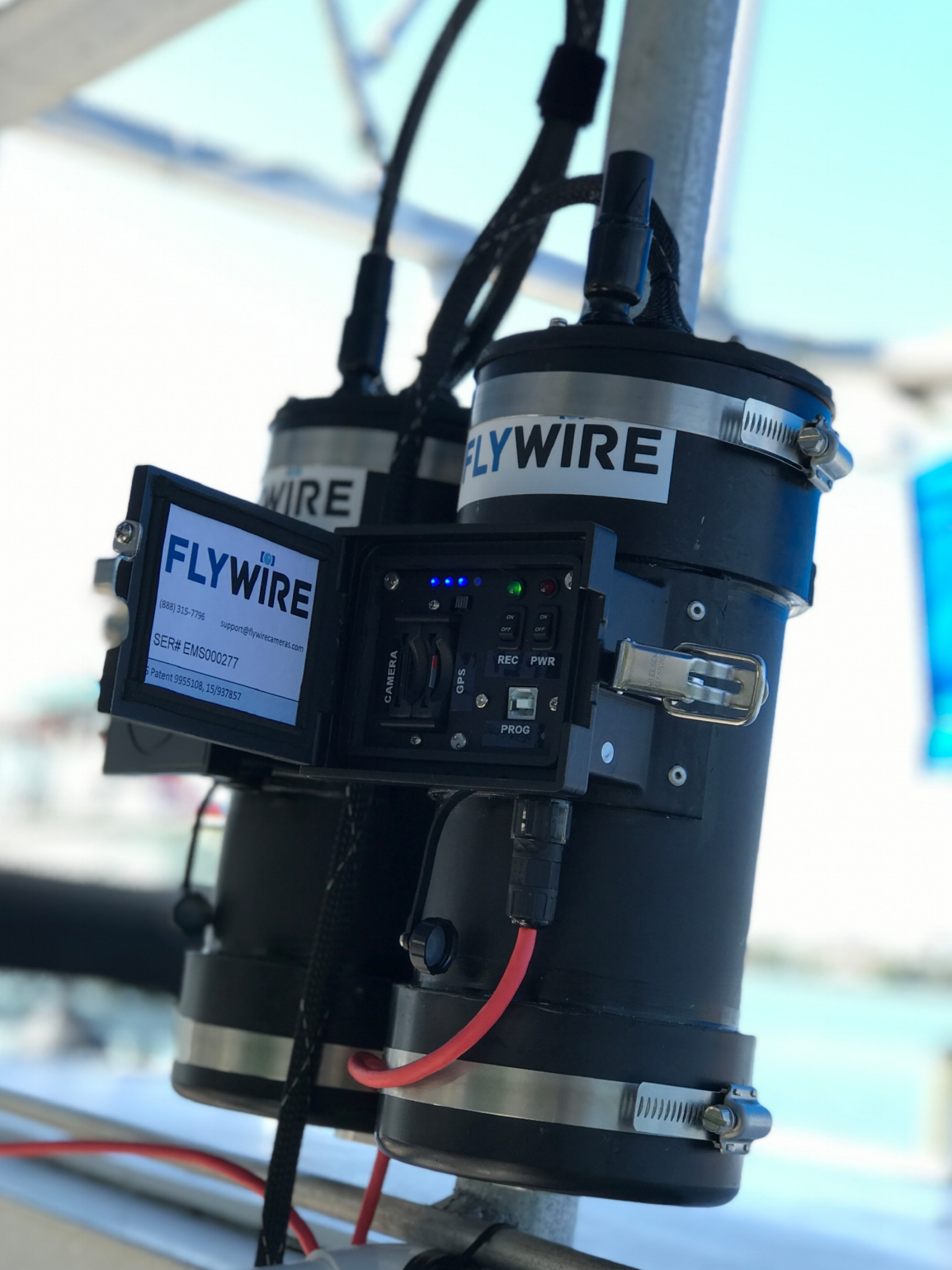 DEPLOY - Then we install our proprietary hardware to verify good practices. Our miniature camera captures a better view allowing FlyWire to monitor more fishing operations in more places.We are the only fully portable electronic monitoring system on the market and the easiest to service.We keep boats on the water making money.