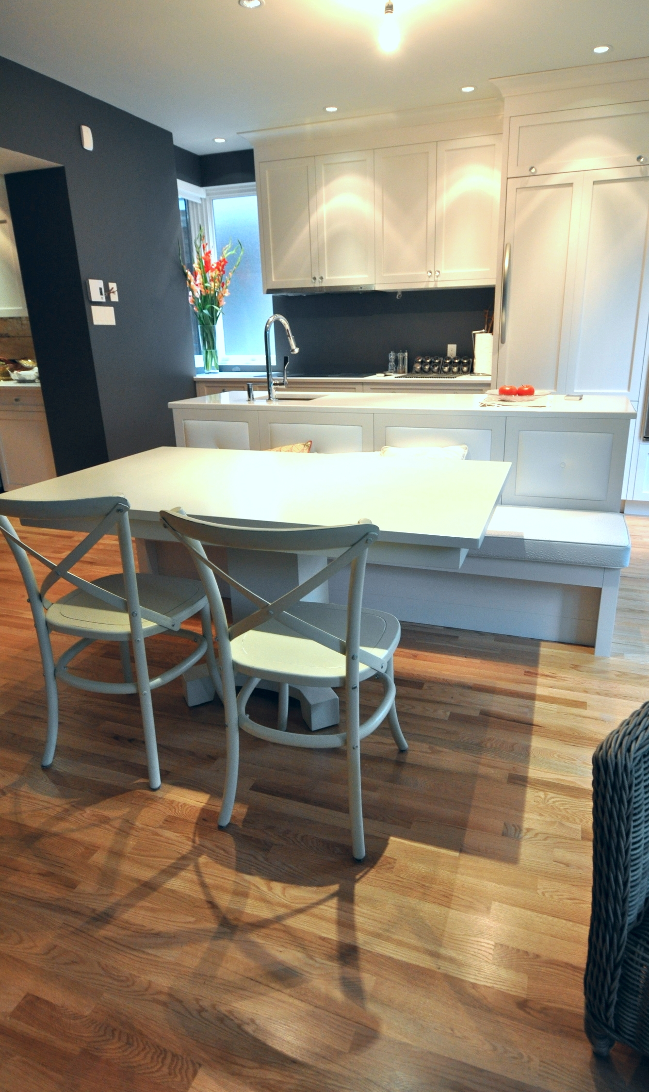 table sur mesure en merisier