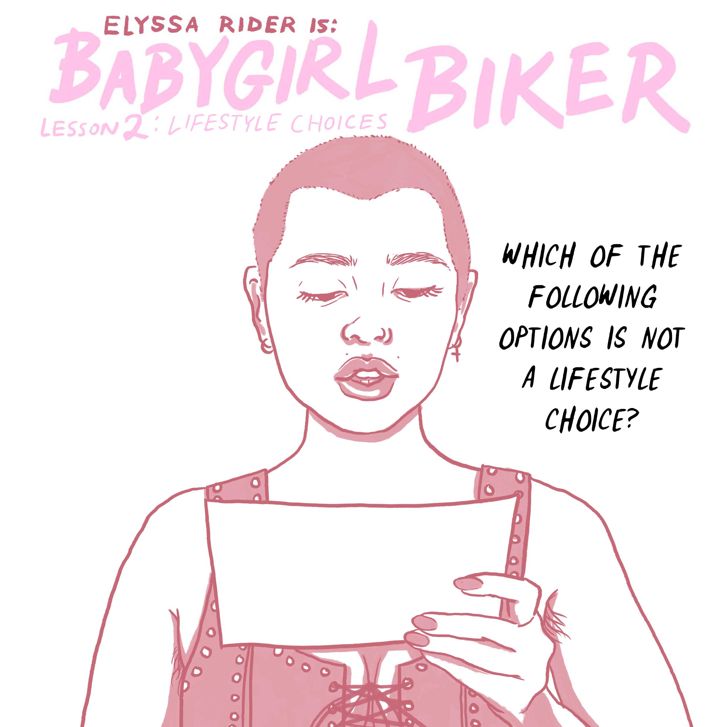 BBG Training - Lifestyle Choices Comic- Elyssa Rider