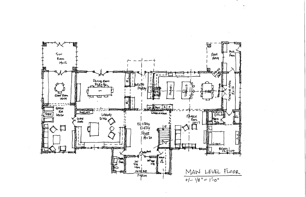 BEDMINSTER HOME   YEAR: 2016 (PRE-CONSTRUCTION)  LOCATION: NEW JERSEY  SIZE: 7,700 sf