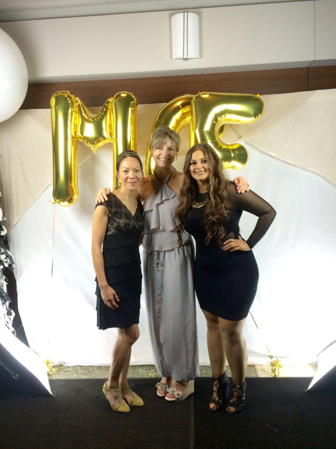 Dr. Sandi Dunn (CEO + Founder) pictured along side Dr. My-My Huynh (Research Scientist) and Luisa D'Amato (Research Technician) at the 21st Annual Michael Cuccione Foundation Gala