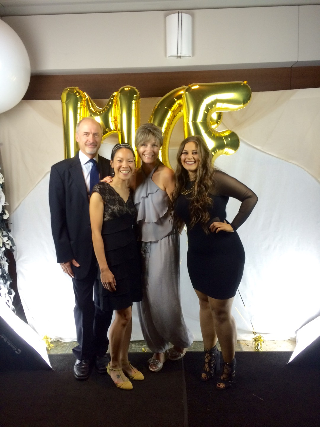 Dr. Sandi Dunn (CEO + Founder) and Dr. Nick Sharp (Chief of Operations) pictured alongside Dr. My-My Huynh (Research Scientist) and Luisa D'Amato (Research Technician) at the 21st Annual Michael Cuccione Foundation Gala