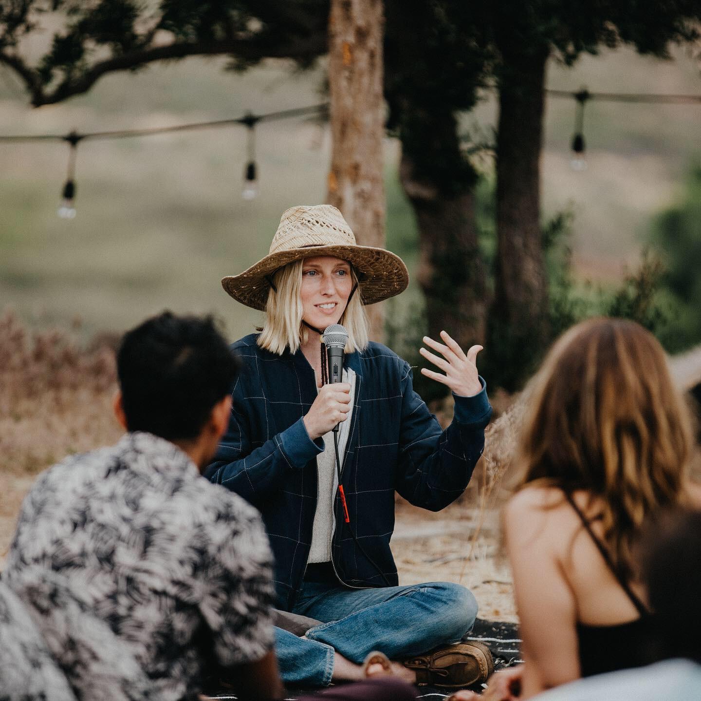 Juliana speaking at Form Festival 2019, photo by Ashley Osborn
