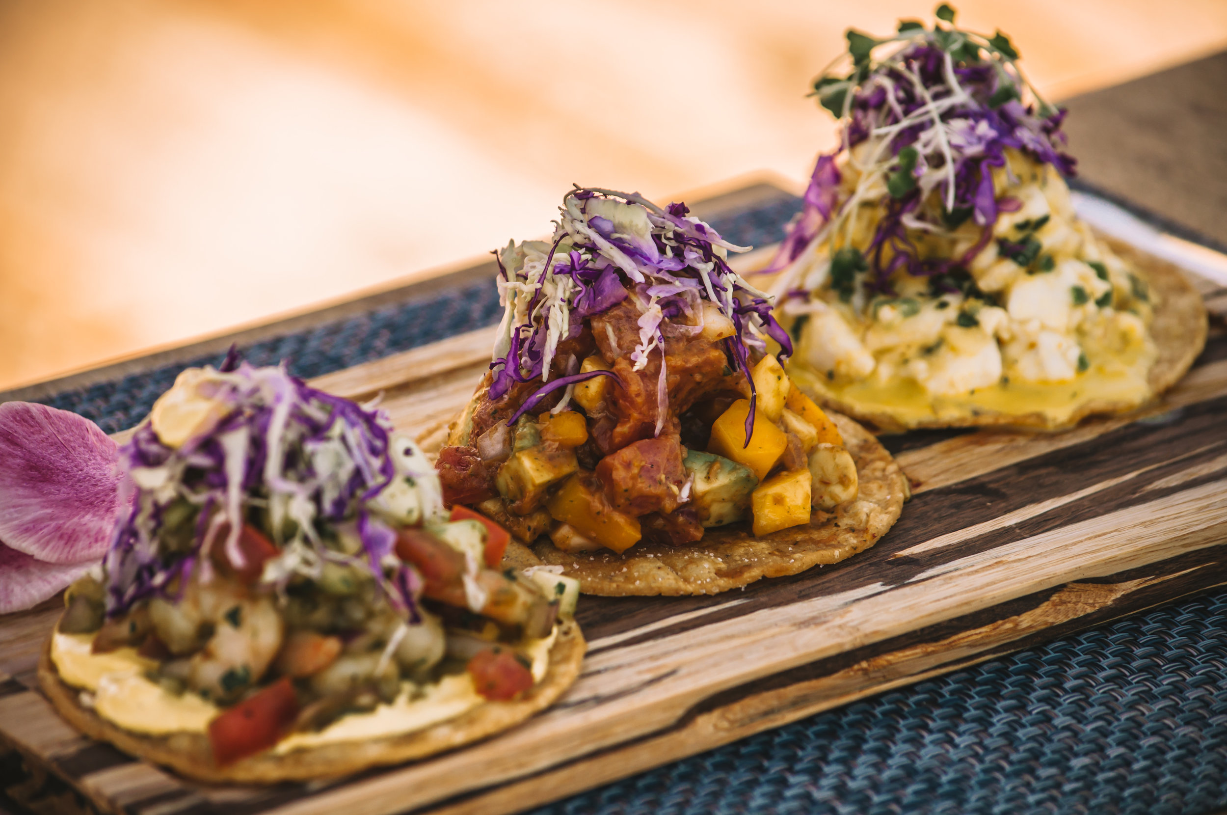 Ceviche Tostadas at the Lake Chalet