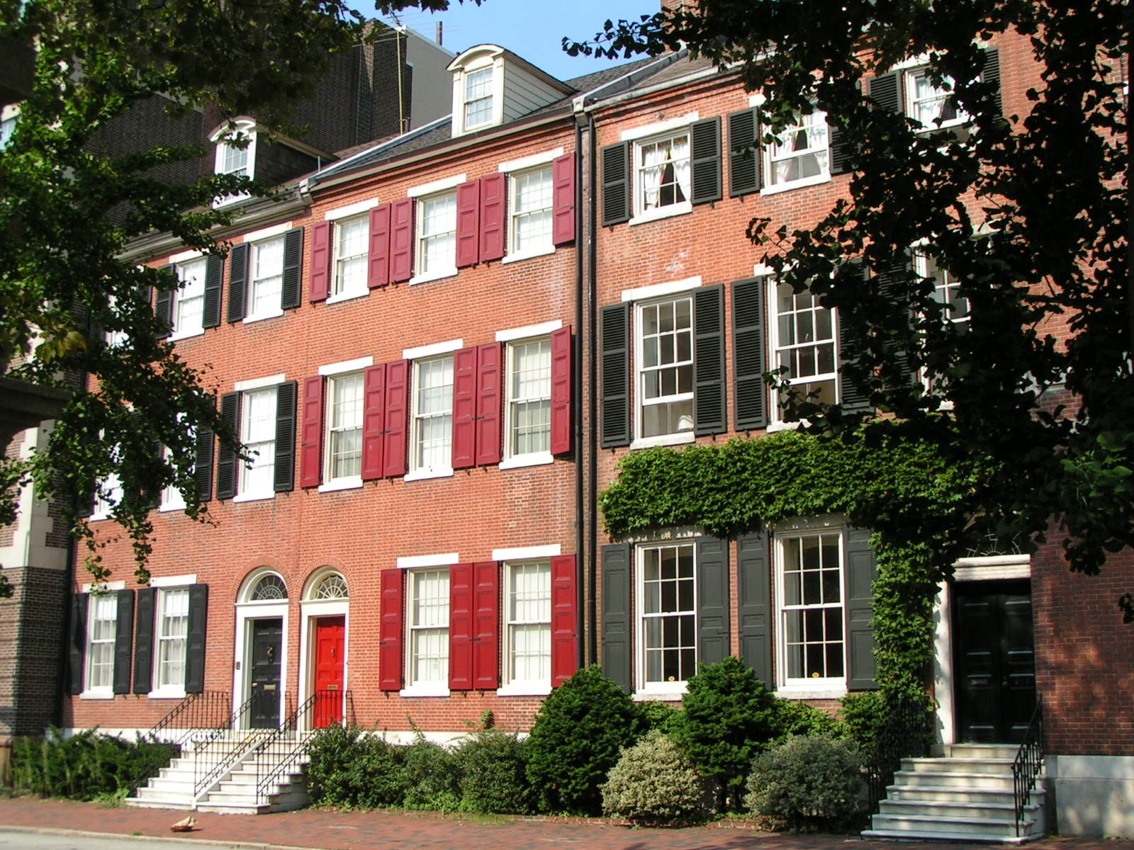 Philadelphia row homes, circa late 1700s