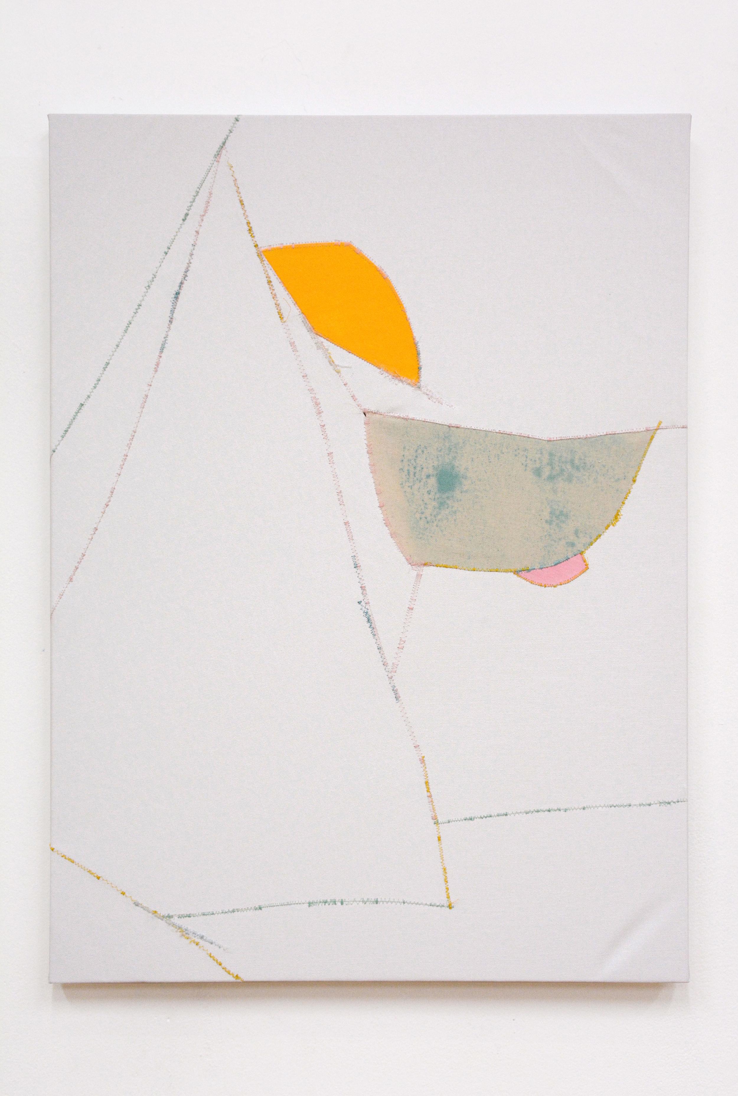 Crisp , oil and thread on canvas, 56 x 76 cm, 2016  .