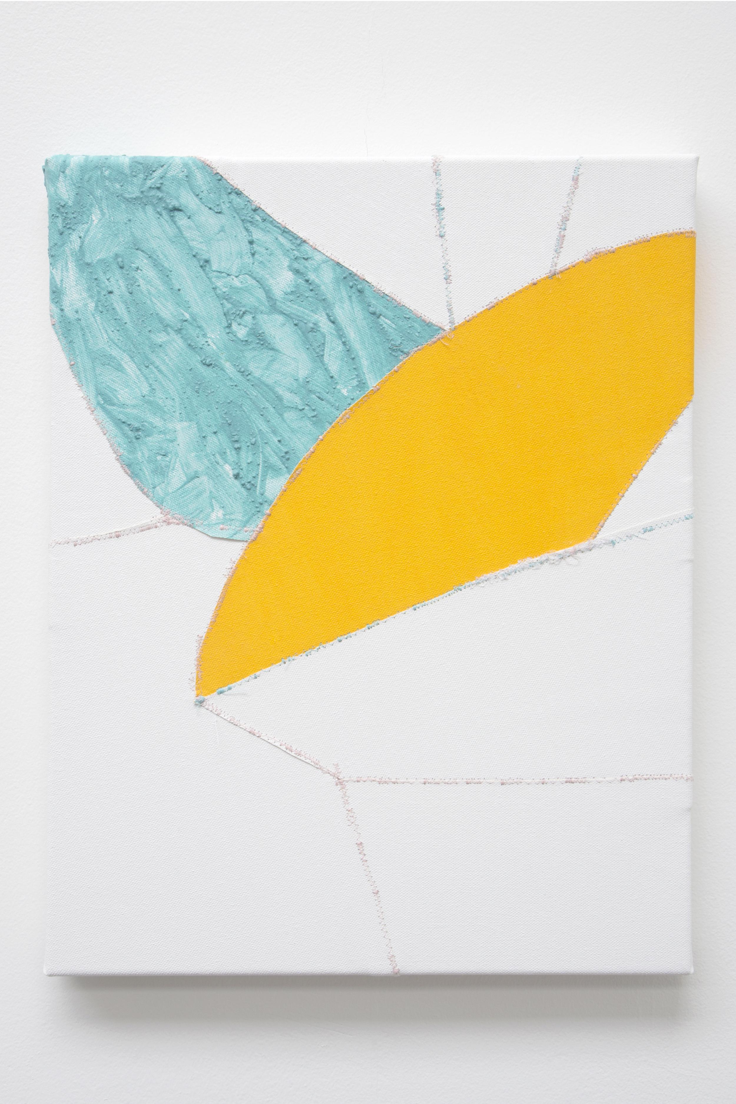 Spur , oil and thread on canvas, 36 x 46 cm, 2016  .