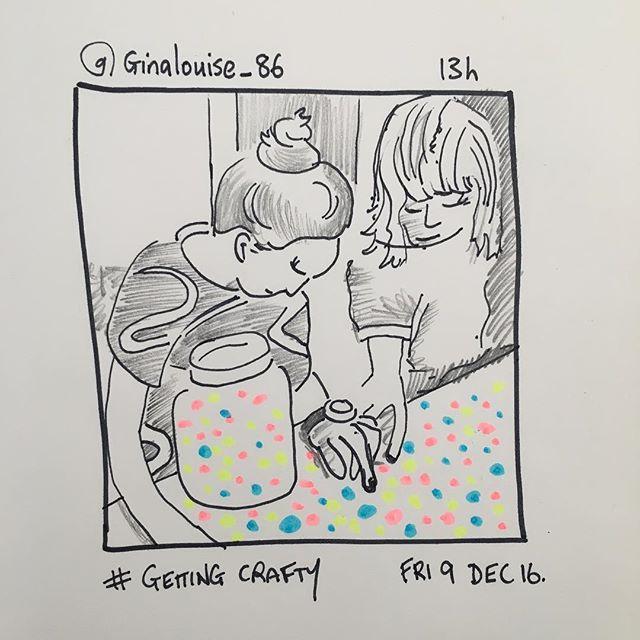 'Getting Crafty' @ginalouise_86  9.12.16 #instasketching #insta_sketching #sketch #craft
