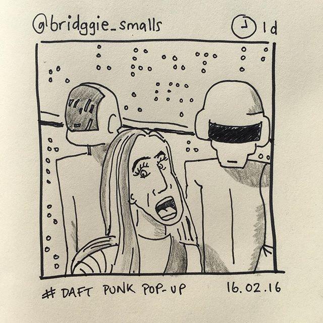 'Daft Punk pop-up' by @bridggie_smalls 16.02.17 #instasketch #insta_sketching #daftpunk #selfie #sketch