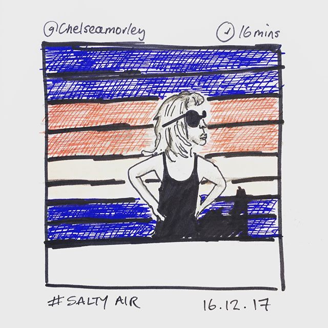 'Salty Air' @chelseamorley 16.12.17 #instasketching #instasketch