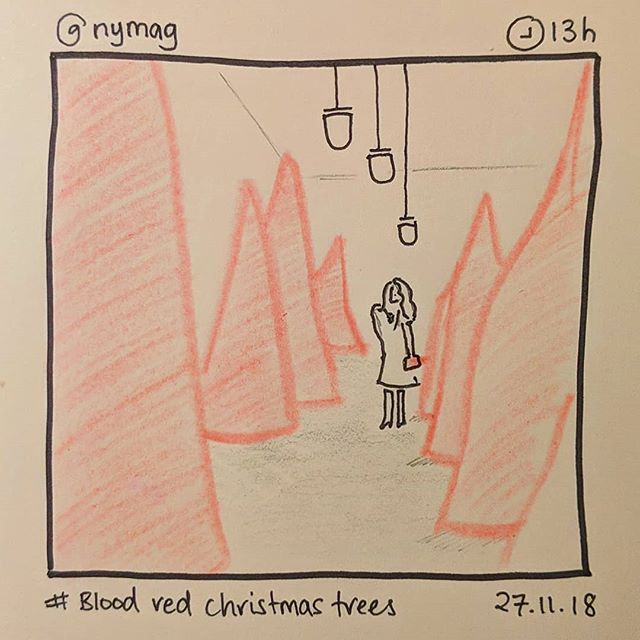 'Blood red Christmas trees' by @nymag #instasketching #insta_sketching #whitehouse #christmastrees