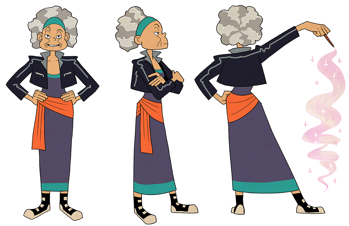 Turnaround of Merlin for an animated TV series adaptation of The Sword in the Stone
