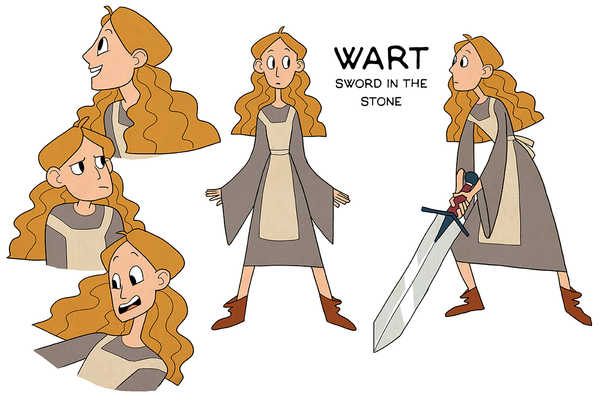 Character design for an animated TV series adaptation of The Sword in the Stone
