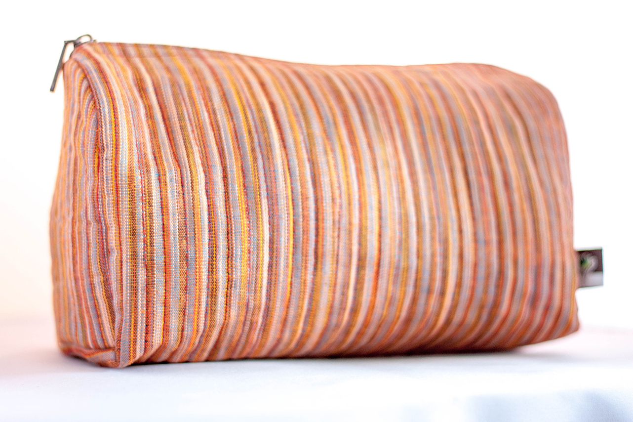 Striped Travel Case from Vintage Indian Textiles | Made With a Purpose