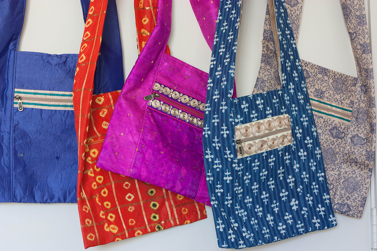 Colorful Crossbody Bags from Vintage Indian Textiles | Made With a Purpose