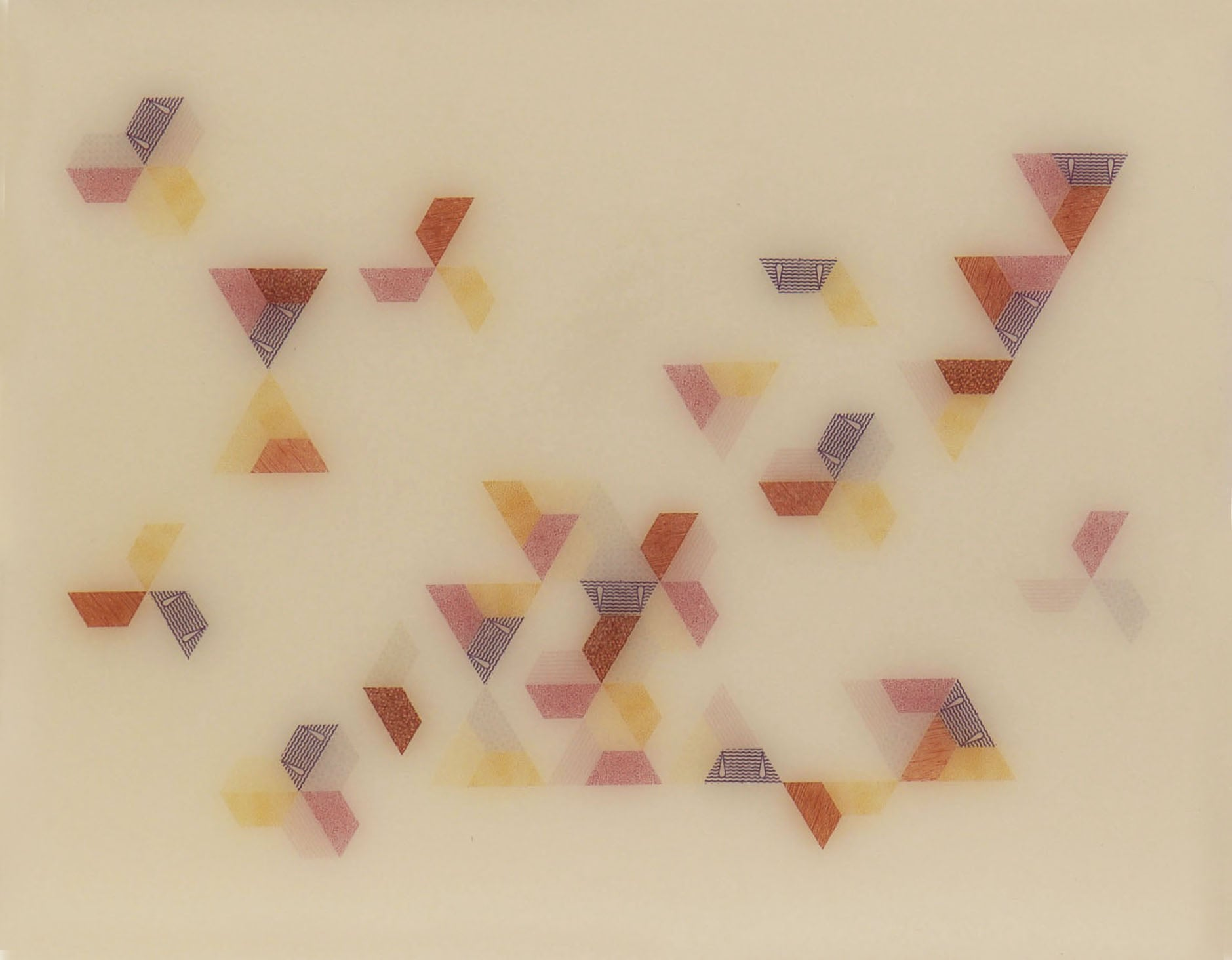Triangle      2014 Encaustic on panel 8 in. x 10 in.