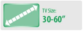 "TV Size: 30-60"" | Medium TV Wall Mount"