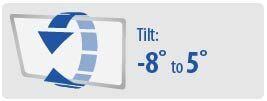 Tilt: -8° to 5° | Large TV Wall Mount
