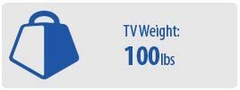 TV Weight: 100 lbs | Large TV Wall Mount