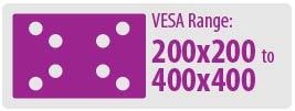 VESA Range: 200x200 to 400x400 | Medium TV Wall Mount