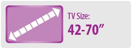 """TV Size: 42-70"""" 