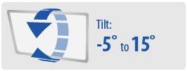 Tilt: -5° to 15° | Small TV Wall Mount