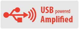 Power: USB   Amplified reception with USB power