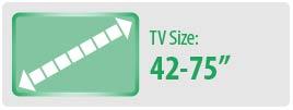 "TV Size: 42-75"" | Medium TV Wall Mount"