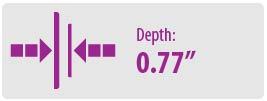 Depth: 0.77 | Large TV Wall Mount