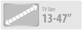 Monster Mounts suitable for 13 to 47 inch TVs