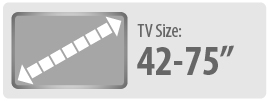 Monster Mounts suitable for 42 to 75 inch TVs