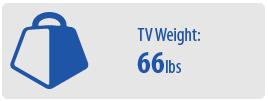 TV Weight: 66 lbs | Medium TV Wall Mount