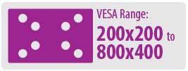 VESA Range: 200x200 to 800x400 | Extra Large TV Wall Mount