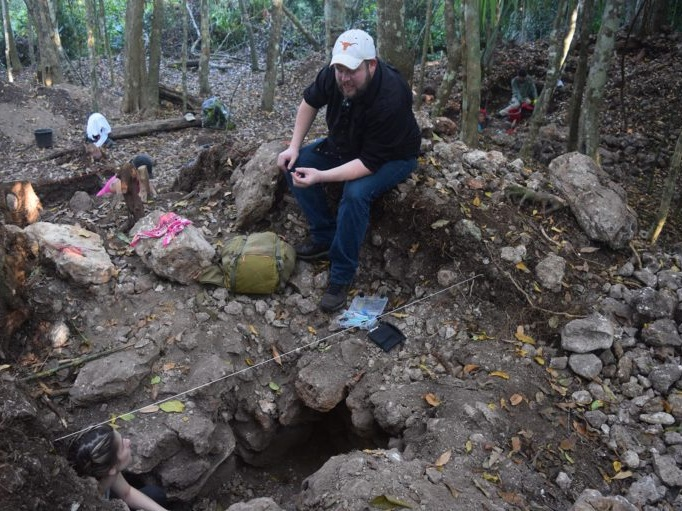Excavation at Monterrey Site. 2019 field season with the Caracol Archaeological Project.