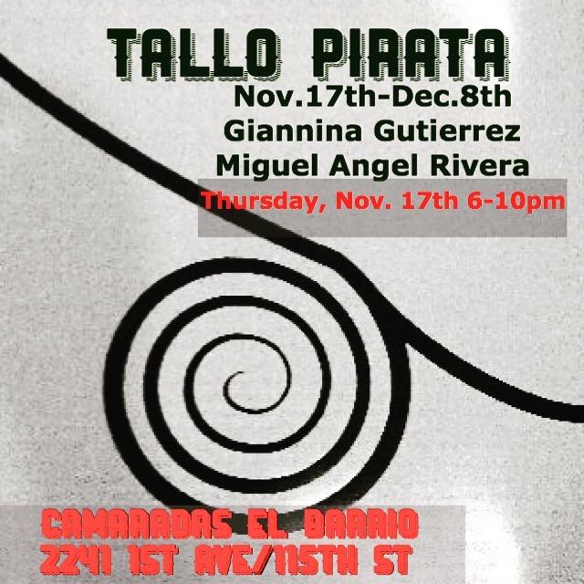 Tallo Pirata,  Camaradas El Barrio November 2016