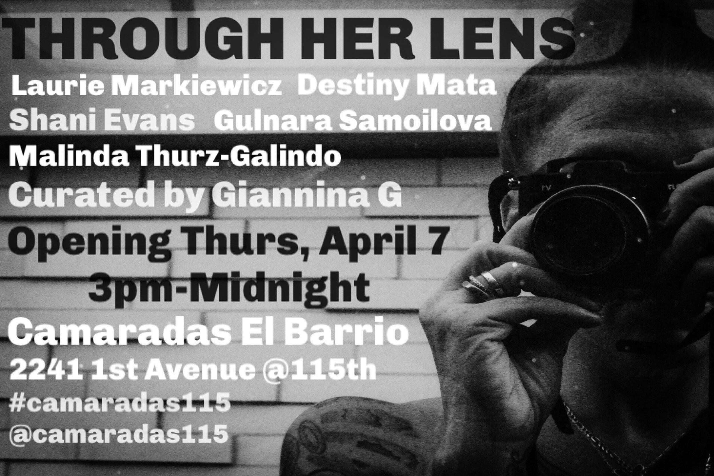 Through Her Lens, Camaradas El Barrio April 2016