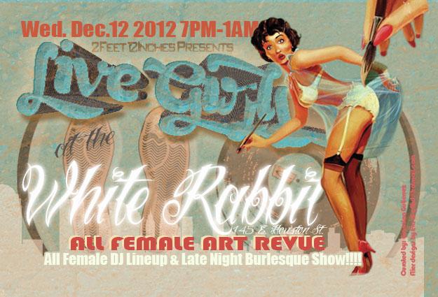Live Girls, White Rabbit December 2014