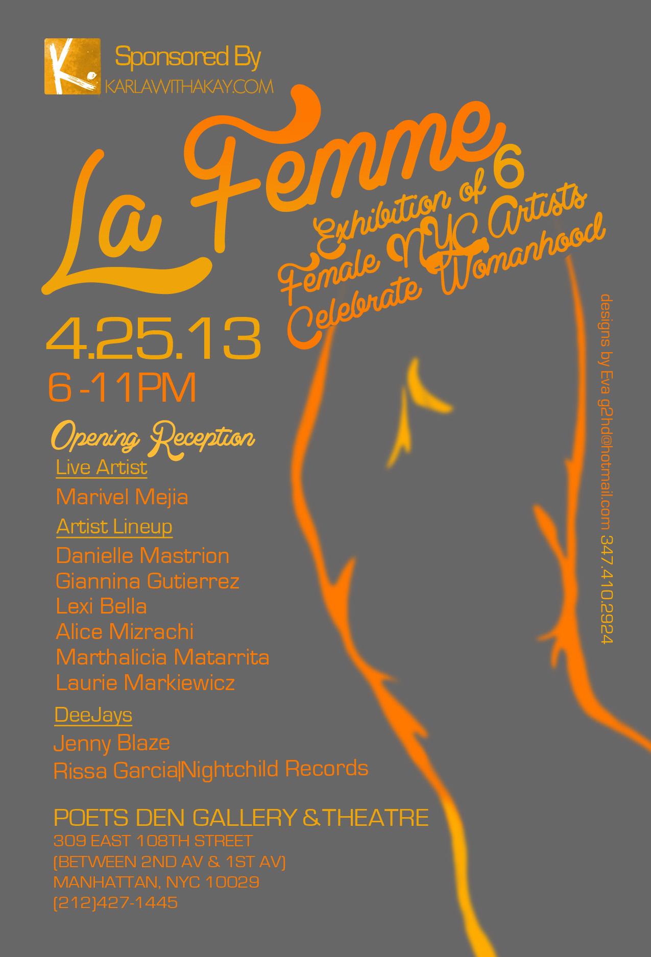 La Femme, Poets Den Gallery April 2013