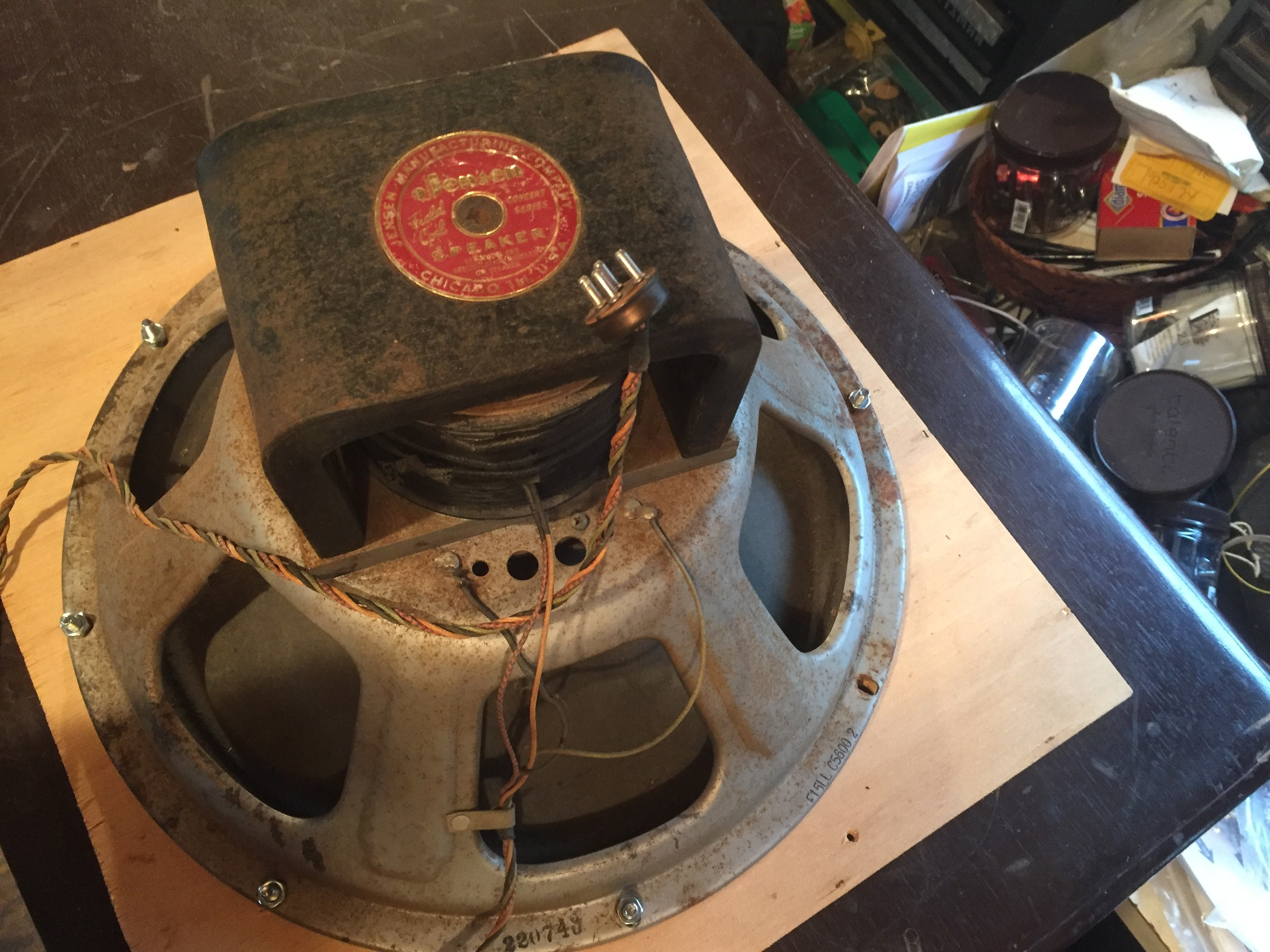 The classic Jensen F15LL field coil speaker.