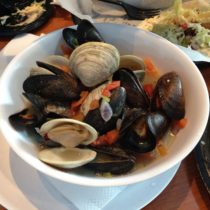 Mussels and clams at Blue Water Seafood in San Diego
